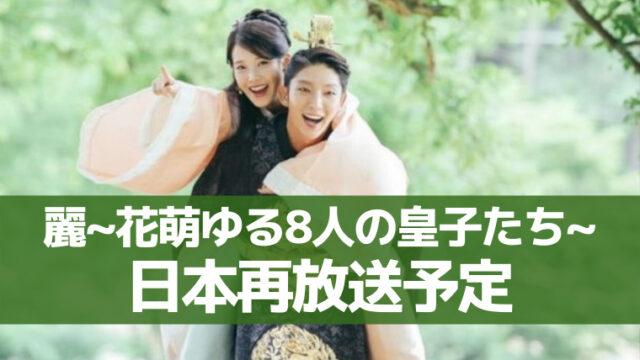 麗花萌ゆる8人の皇子たち 再放送